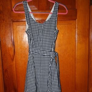 JCrew Navy/White Gingham Sleeveless Dress Size 10